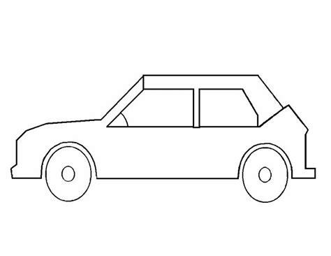 Kleurplaat Simpele Auto kleuren nu auto kleurplaten
