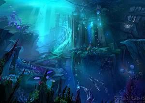 Background:undersea city by Ecystudio on DeviantArt