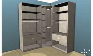 Petit Dressing D Angle : dressing d 39 angle ch ne l 200 x l 200 x h 220 x p 50 cm ~ Premium-room.com Idées de Décoration