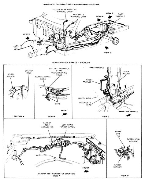repair anti lock braking 1987 ford taurus auto manual repair guides rear anti lock brake system rabs component location autozone com