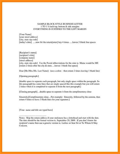 sle business letter format with letter sle for resume fashion stylist resume objective