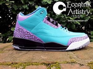 Air Jordan 3 'Aqua Grape' Custom | SneakerFiles