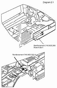 Diagram For Installing And Removing Seat To A Vw Van   Bus