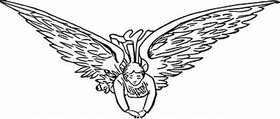 Flying Angel Clipart Svg Clip Drawing Heaven