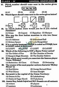 Nstse 2010 Solved Question Paper For Class Iv