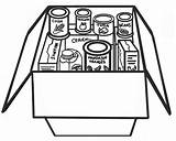 Food Clipart Bank Cliparts Pantry Clip Library Collection Canned Coloring sketch template