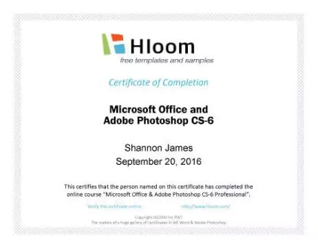 certificate  completion templates utemplates