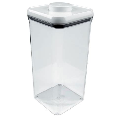 oxo good grips pop big square container  quart cutlery