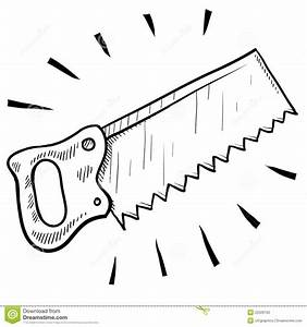 Wood Saw Sketch Stock Photography - Image: 22526102