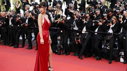 Carpet Hadid Bella Cannes Festival Film Celebrities