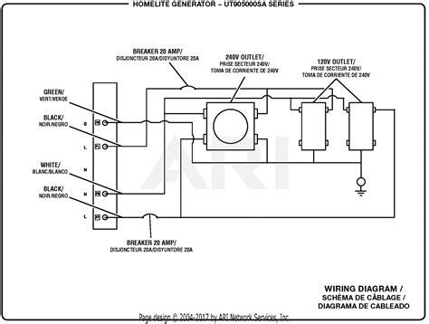 Homelite Utsa Watt Generator Parts Diagram For