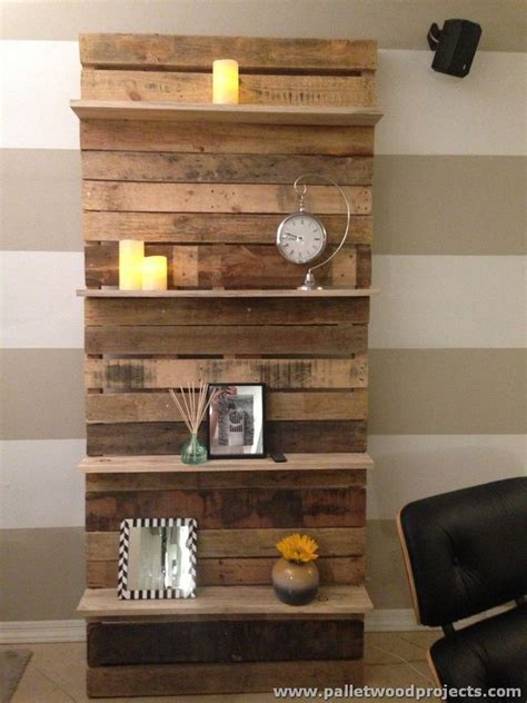 how to make a wall shelf shelves made with wood pallets pallet wood projects