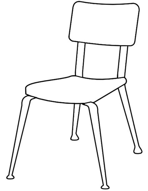dessin de chaise coloriage chaise à imprimer gratuitement