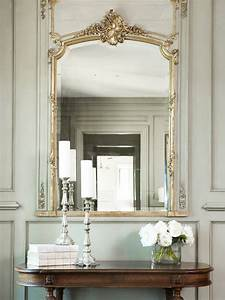 decorative wall moldings french entrance foyer linda With kitchen colors with white cabinets with candle holder mirror