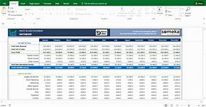 restaurant income statement template excel - 12 profit loss excel template exceltemplates