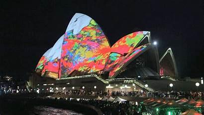 Sydney Festival Animation Gifs Vivid Spectacular Lights
