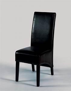 Chaise de salle a manger en cuir noir for Meuble salle À manger avec chaise cuir noir salle manger