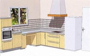plan pour cuisine amenagee cuisine en image With plan pour cuisine amenagee