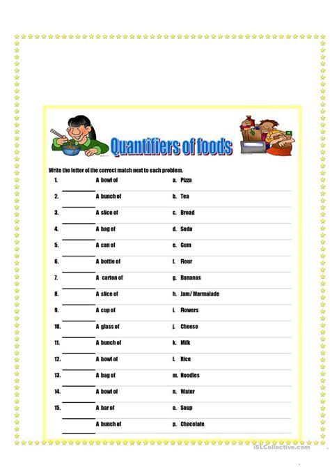 quantifiers of food and drinks worksheet free esl printable worksheets made by teachers