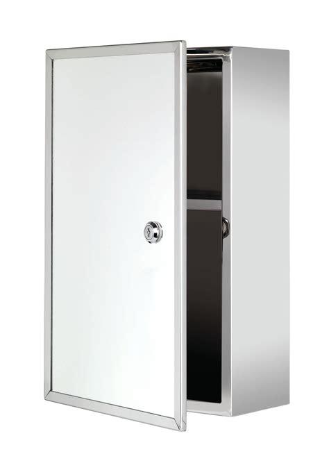 Locking Medicine Cabinet by Croydex Trent Stainless Steel Lockable Medicine Cabinet