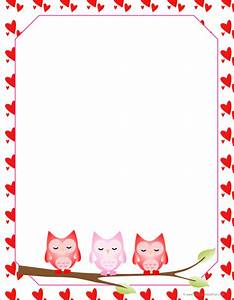 valentine owls letter paper kidscanhavefun blog With letter paper with borders