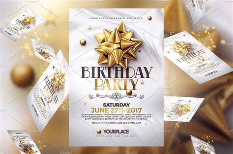 Birthday Invitation 3 Psd Template #Size#DIN#PSD#Files
