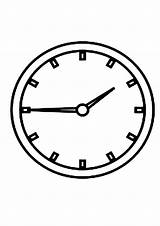 Clock Coloring Cuckoo Alarm Printable Template Analog Sketch Getcolorings sketch template
