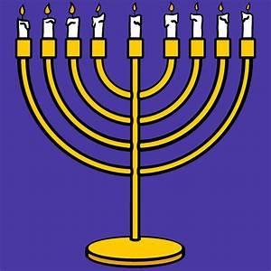 Clip Art: Happy Hanukkah Word Art with Menorah (B&W ...