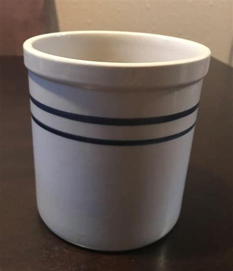 antique stoneware crock 2 blue antique stoneware crock 2 blue lines and 50 similar items