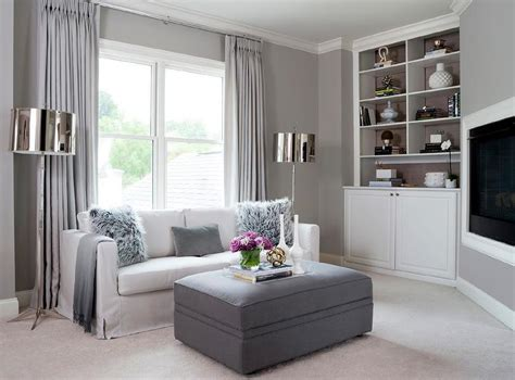 Gray Living Room With Corner Tv Niche Contemporary