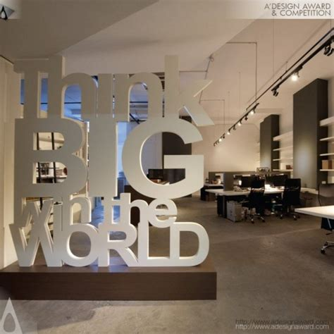 award winning edge office interior design trophy