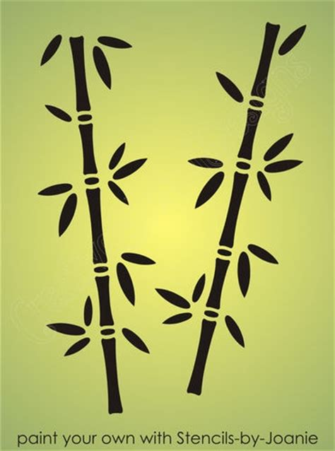 details  asian stencil bamboo oriental plant nature