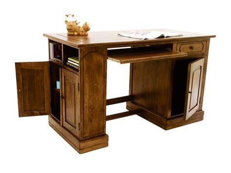 bureau en u bureau ministre métis en bois de châtaignier avec