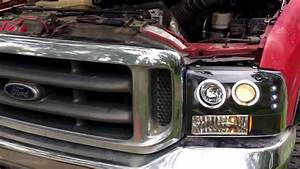 1999 Ford F350 New Headlights  Spyder Led Headlight