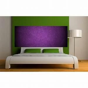 Fond De Lit : papier peint t te de lit fond violet art d co stickers ~ Teatrodelosmanantiales.com Idées de Décoration