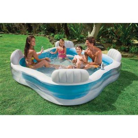 piscine avec siege intex piscine familiale avec fauteuils intégrés 229 x