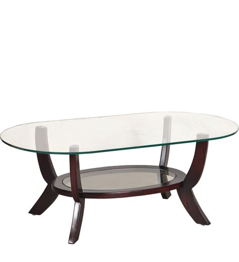 oval glass coffee table saffron oval shaped glass coffee table with mudramark by
