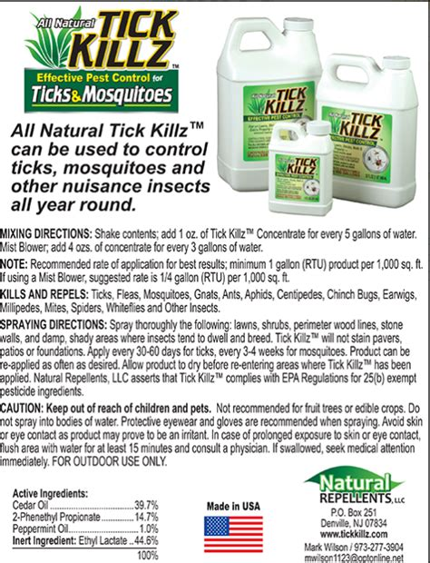 product labels information customized turf services llc