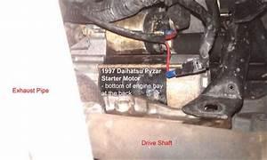Solved  Replace Starter Motor In Daihatsu Pyzar