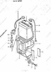 Suzuki Motorcycle 1974 Oem Parts Diagram For Battery