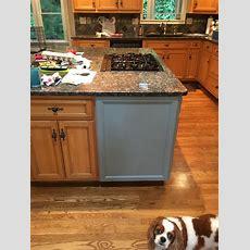 Kitchen Island & Kitchen Desk In Halcyon Blue & Snow White