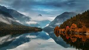 Download, 1920x1080, Fall, Autumn, Lake, Mountain, Mist