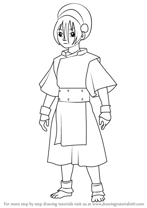 Bende Kleurplaat by Learn How To Draw Toph Beifong From Avatar The Last