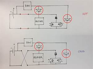 Peltier  Cooler Circuit Unnecessary Diodes