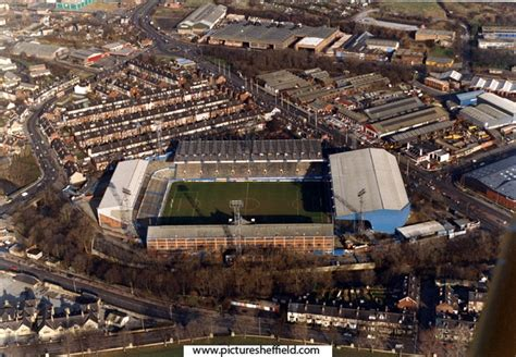 Ariel photo of Hillsborough and the old Wednesdayite ...