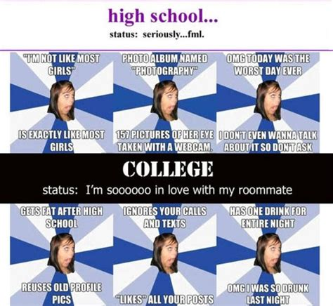 High School Girl Meme - afg in high school and college annoying facebook girl know your meme