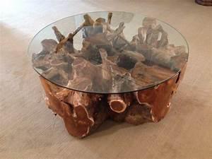 Wurzelholz Tisch Mit Glasplatte : couchtisch wohnzimmertisch aus einer baumwurzel rund 100 cm der tischonkel ~ Bigdaddyawards.com Haus und Dekorationen