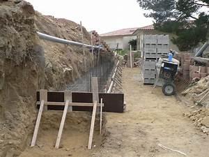 Ferraillage Fondation Mur De Cloture : mur de sout nement en anglo banch avec pose d enduit ~ Dailycaller-alerts.com Idées de Décoration