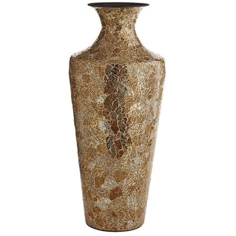 Silver Crackle Vase by Gold Silver Crackle Glass Mosaic Vase Pier 1 Imports