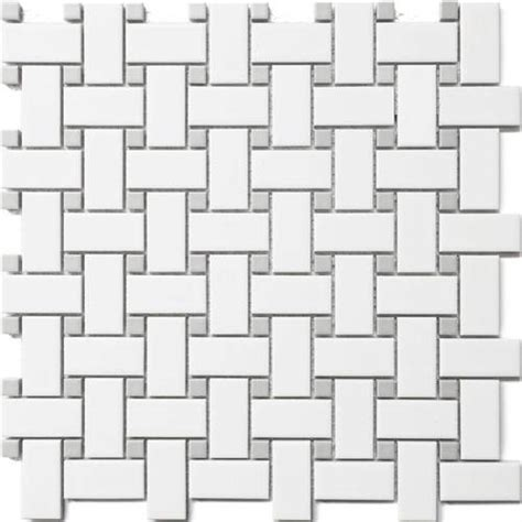 CC Mosaics   White & Grey Basket Weave Wave Dot 12x12
